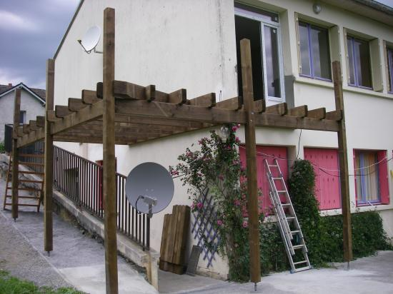 Avancement de la terrasse